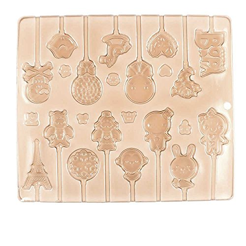 Price per 10 Pieces Chocolate Molds Baby Shower GNXJ5 Lollipops Fondant Easter Egg Jelly Candy Baking by Chocolate Molds