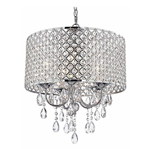 Crystal Chrome Chandelier Pendant Light With Crystal