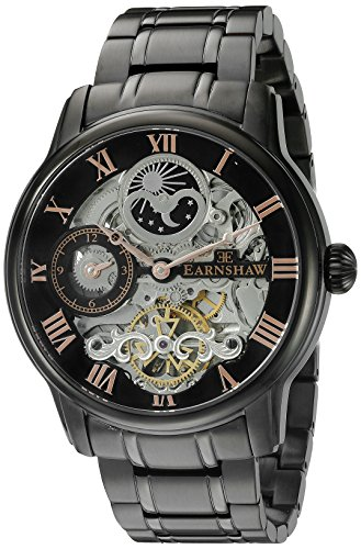 Thomas Earnshaw Men's ES-8006-55 Longitude Analog Display Automatic self wind Black Watch