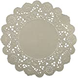 School Smart Round Paper Lace Doilies - 4 inch - Pack of 100 - White