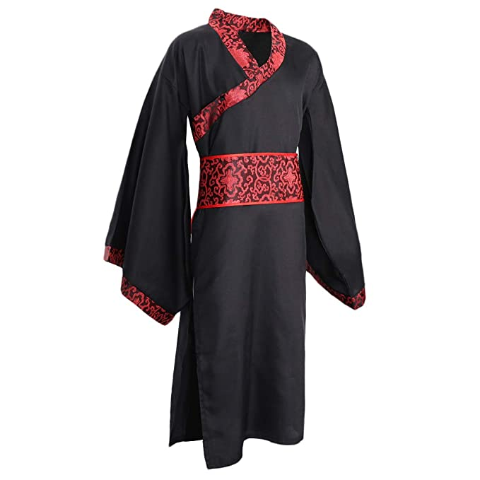 KESOTO Hanfu Chino de Hombres Traje Tradicional de Dinasía Han ...
