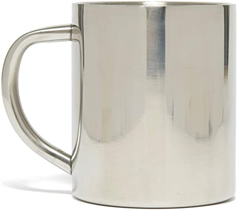 Set of 6 Steel Tea Mugs Coffee Cups 1L Hot Travel Camping Outdoor Stainless