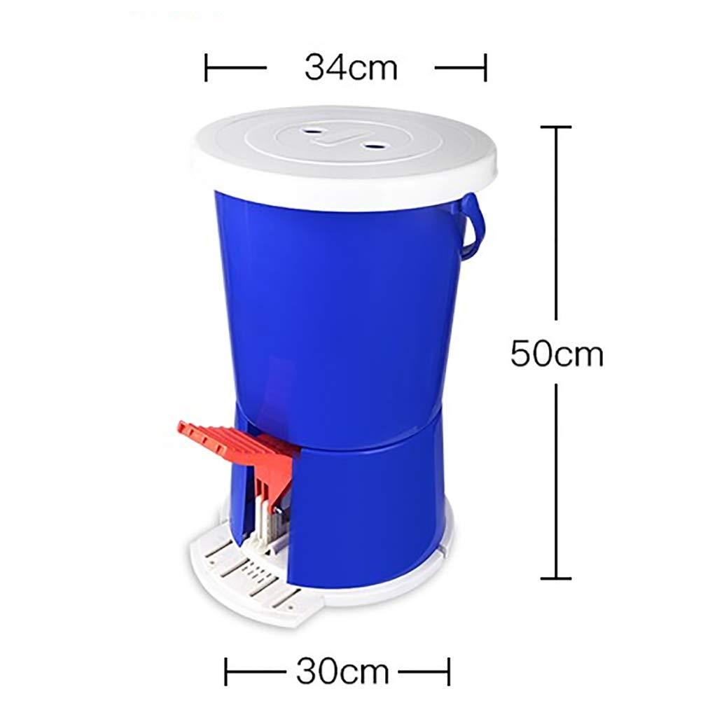 Mini Machine /à Laver /à P/éDale Machine /à Laver Manuelle Portable avec P/éDale Machine /à Laver Motion Fitness sans Alimentation /éLectronique pour Le Camping M/éNage Dortoir Baignoire Simple Bleu