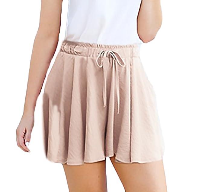 an vorderster Front der Zeit Luxus langlebig im einsatz Kurze Hosen Damen Sommer High Waist Weites Bein Shorts ...