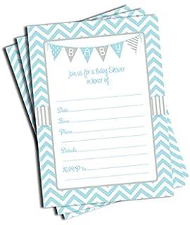 Amazoncom 30 Baby Shower Invitations Boy with Envelopes 30 Pack