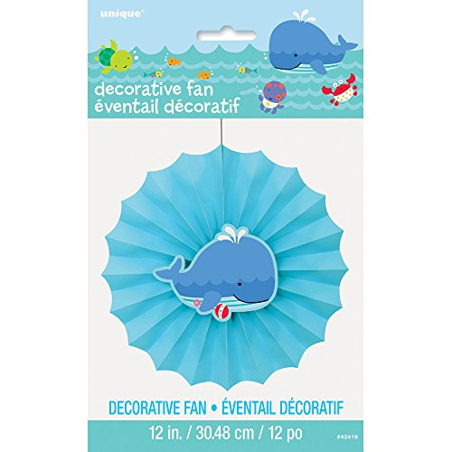 "12"" Under the Sea Paper Fan Decoration"