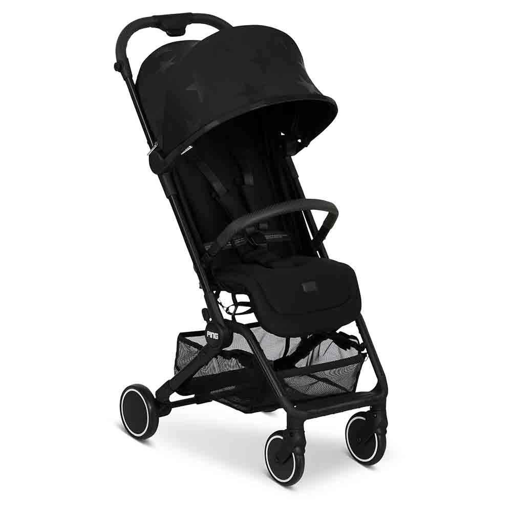 Liegeposition kompaktes Faltma/ß mit Transportsicherung ab Geburt bis 15 KG Farbe: black Sportwagen ideal f/ür den Urlaub ABC Design Reisebuggy Ping