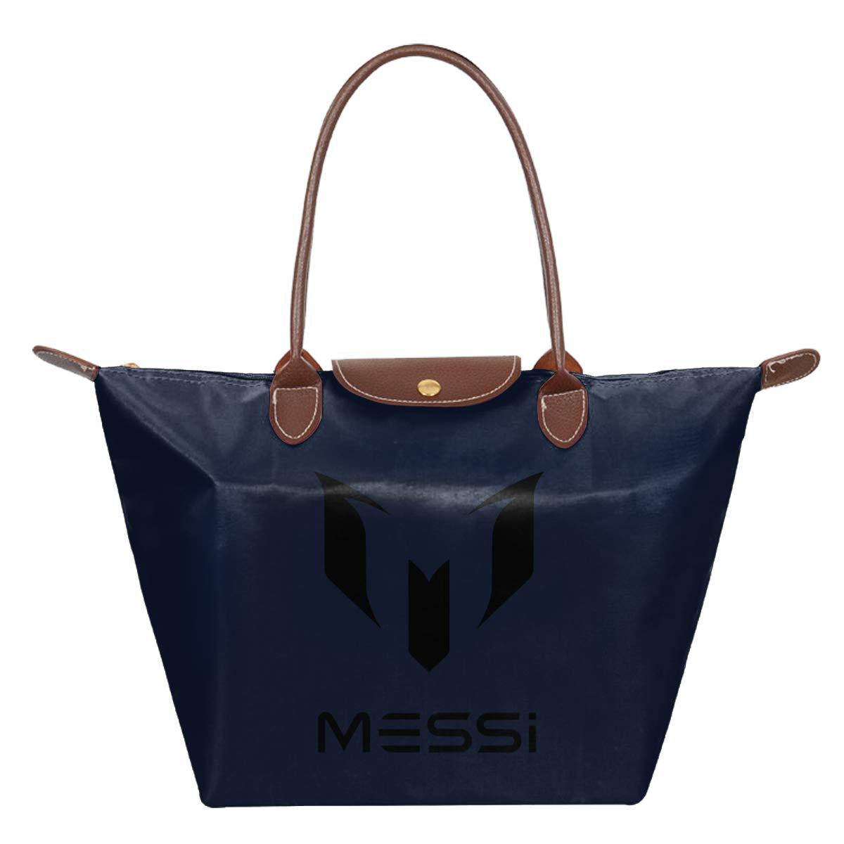 Messi Waterproof Leather Folded Messenger Nylon Bag Travel Tote Hopping Folding School Handbags