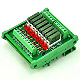 ELECTRONICS-SALON Slim DIN Rail Mount DC12V Sink/NPN 8 SPST-NO 5A Power Relay Module, PA1a-12V