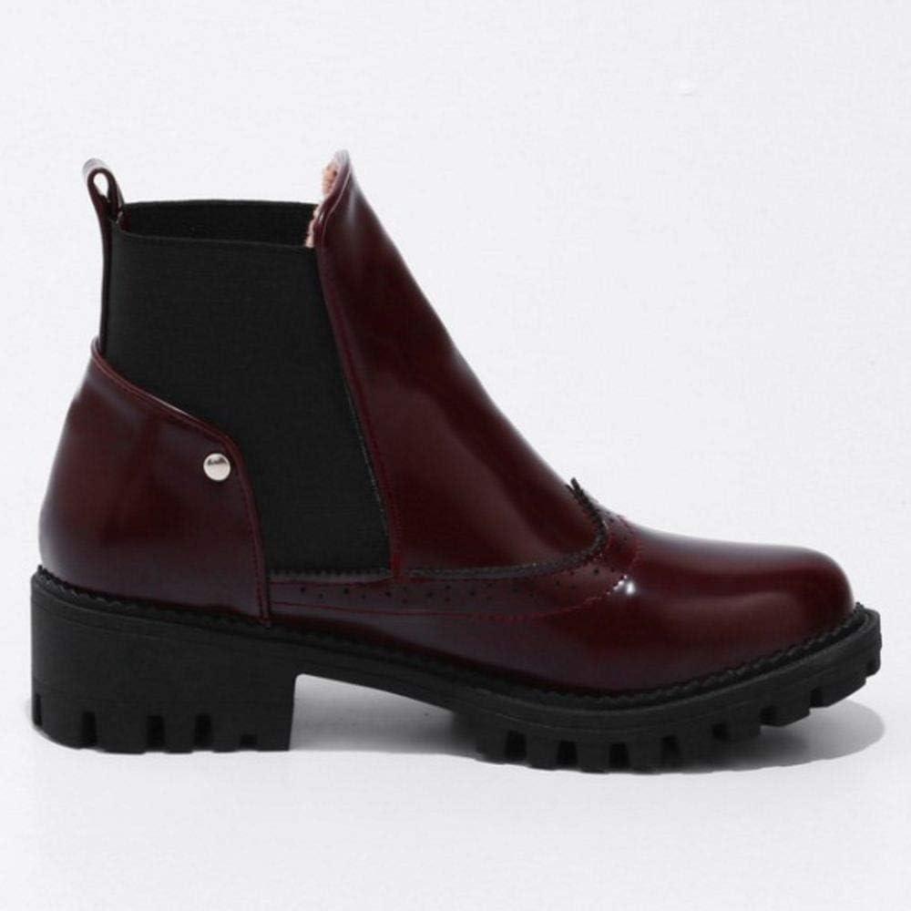 KemeKiss Women Chunky Heel Chelsea Boots Pull On
