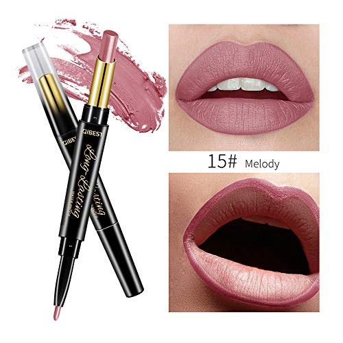 FORUU Women's Lipstick, 2019 Valentine's Day Surprise Best Gift For Girlfriend Lover Wife Party Under 5 Free delivery QIBEST Double-end Lasting Lipliner Waterproof Lip Liner Stick Pencil O ()