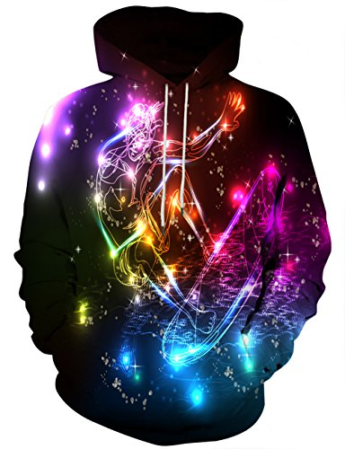 Yasswete Unisex Hoodies Shirts Skateboard Printed Graphic Sports Pullover Outwear L (Boys Skateboard Hoodie)
