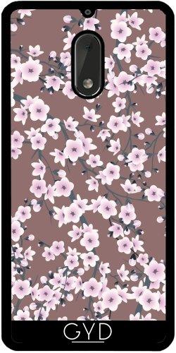 Funda de silicona para Nokia 6 - Flores De Cerezo Modelo Rosado by Nina Baydur