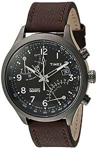 Timex Men's TWH3Z6110 Intelligent Quartz Fly-Back Chronograph Brown Leather Strap Watch