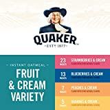 Quaker Instant Oatmeal, Fruit and Cream 4 Flavor