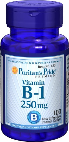 Puritan's Pride Vitamin B-1 250 mg-100 Tablets