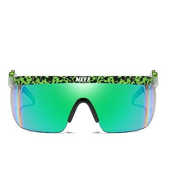 HECHEN Gafas Deportivas Gafas Polarizadas Protección UV para Ciclismo Pesca Alpinismo Esquí, Unisex,C