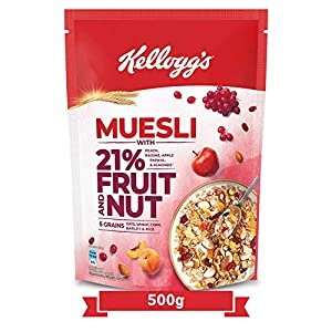 New Kellogg's Muesli with 21% Fruit, Nut & Seeds |Tastier Now with Cranberries and Pumpkin Seeds |Breakfast Cereal… 4