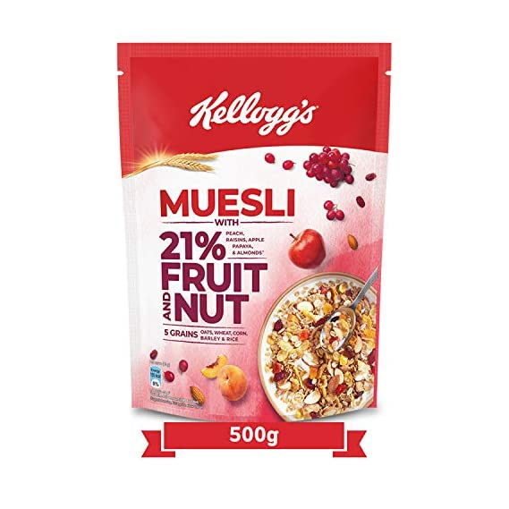 Kellogg's Muesli with 21% Fruit and Nut, 500g