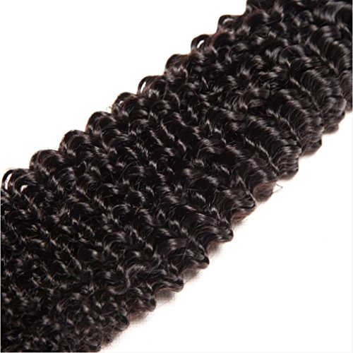 Shireen 10A Brazilian Curly Hair Weave 3 Bundles (20 22 24,300g) Virgin Kinky Curly Human Hair Weave 100% Unprocessed Hair Weft Extensions Natural Black Color by Shireen Hair (Image #5)