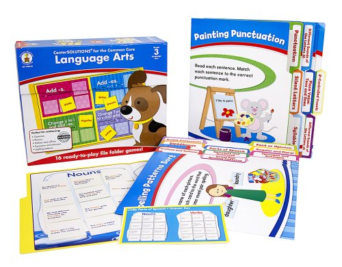 Language Arts File Folder Games (Carson Dellosa Language Arts File Folder Game (140312))