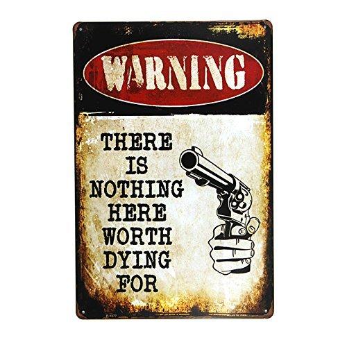 kjkjere Eletina ringet Well Art Living Room , Dl Warning There is Nothing Here Metal Sign Wall Decor Garage Shop Bar Living Room Wall Art Poster, Decor Wall Art Livingroom -