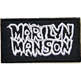 MARILYN MANSON Heavy Metal Rock Punk Music Band Logo Patch Sew Iron on Embroidered Polo T-shirt Vest Cloth ,Size 3.25Inch X 1.75Inch