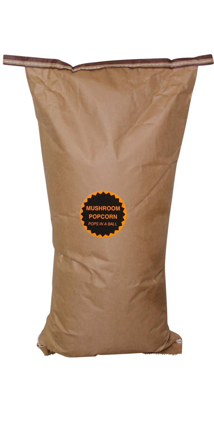 Amish Country Popcorn - 50 Pound Bag Mushroom Popcorn - Perfect for Fundraisers - Old Fashioned,Non GMO, Gluten Free, Microwaveable, Stovetop and Air Popper Friendly with Recipe Guide