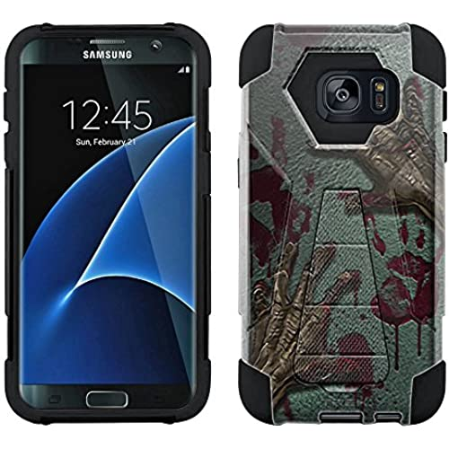 Samsung Galaxy S7 Edge Hybrid Case Zombie Hands 2 Piece Style Silicone Case Cover with Stand for Samsung Galaxy S7 Edge Sales