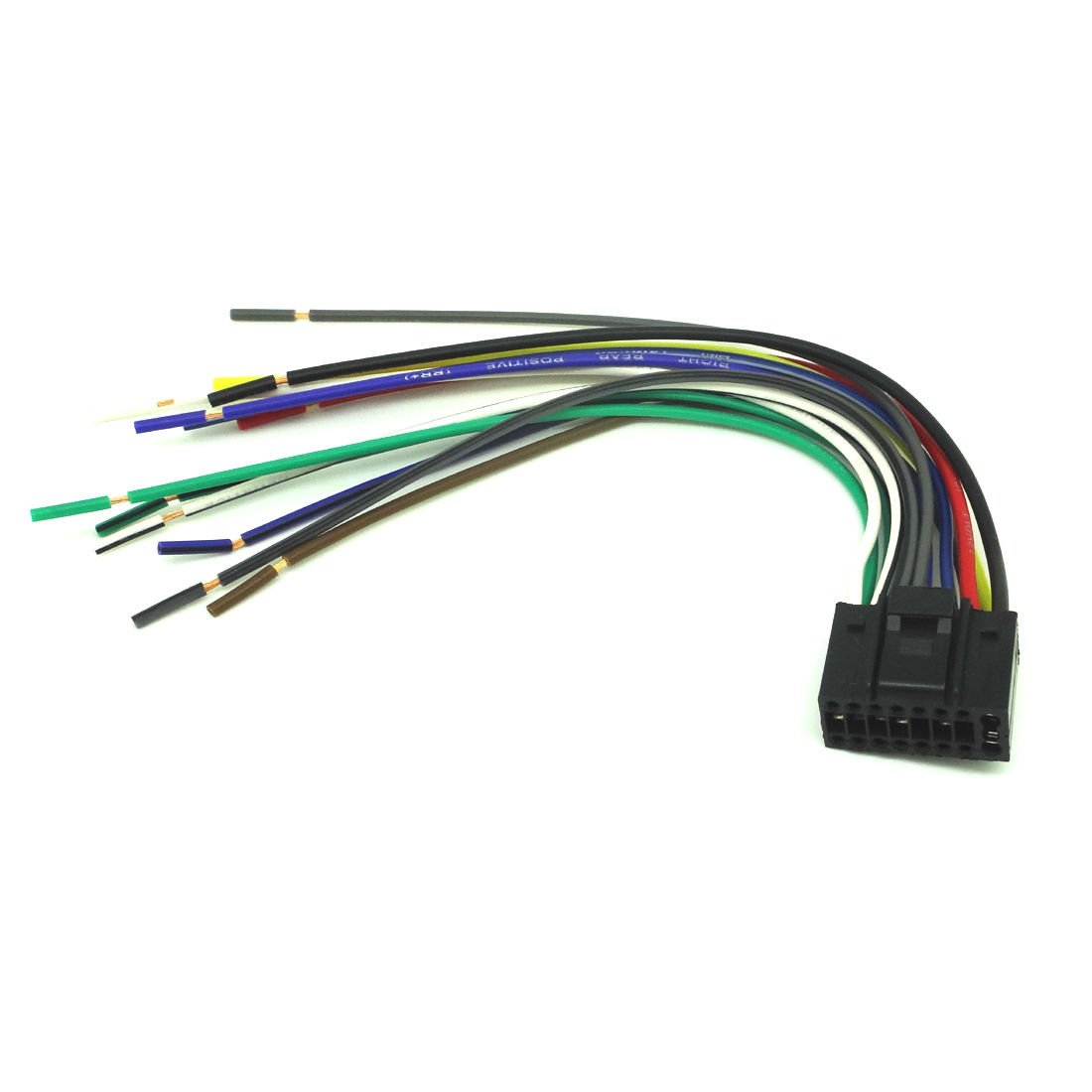amazon com: conpus 16-pin radio car audio stereo wire harness for kenwood  kdc-152 player kdc-222 ad342: car electronics