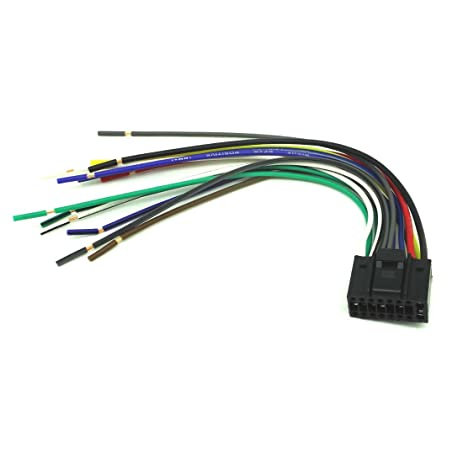 amazon com conpus 16 pin radio car audio stereo wire harness for Kenwood KDC 108 Wiring Harness at Kenwood Kdc Mp225 Wiring Harness
