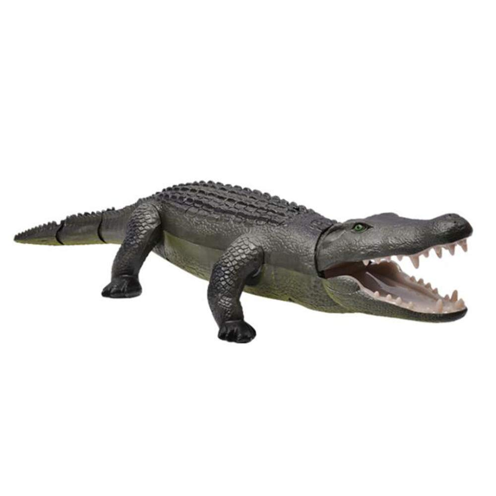 ADZPAB Elektrische Fernbedienung Krokodil Kinder Spielzeug Walking Licht Emittierende Tier Spielzeug Geschenk (Farbe : Blau)
