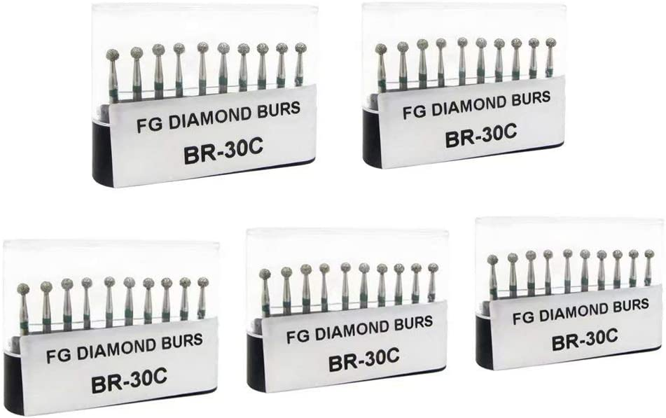 50Pcs 1.6mm Carborundum Burr Cutting Burs Micro Polishing Drill Bits Diamond Burs BR-30C