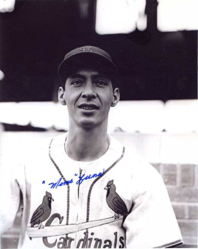 (G. Memo Luna Autographed /Original Signed 8x10 Photo Showing Him w/ the St. Louis Cardinals in 1954 - Luna Is a Member of the Mexican Baseball Hall of Fame)