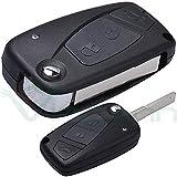 Hard-Shell Case with Folding 3-Button Remote Control Key for the FIAT Panda, Grande Punto, Idea, Doblo Ulysse Ducato Stylus