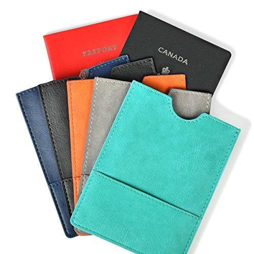 Passport Holder Cover - Ultra Slim Premium Vegan Leather Travel Wallet Case Cover