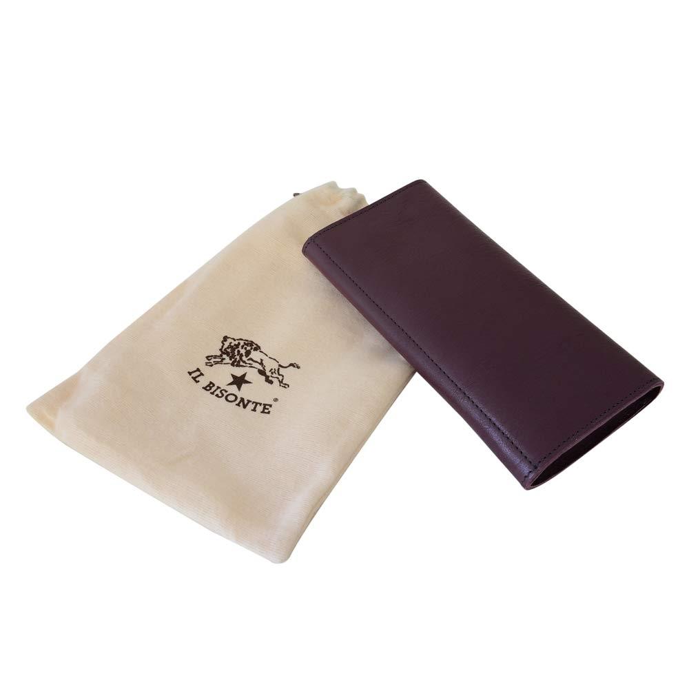 477c8074ab22 ... 長財布 かぶせ蓋 ダブルホック PLUM プラム パープル系 型押しロゴ メンズ レディース ユニセックス 無地 [並行輸入品] | IL  BISONTE(イルビゾンテ) | 財布
