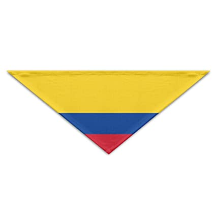 Flag Of Colombia Bandana Triangle Neckerchief Bibs Scarfs Accessories For Pet Cats And Baby Puppies The