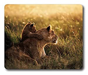 Online Designs Lion With Its Cub Square mouse pad Printing padss for computers 9 * 7.5inch