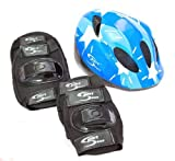Sport DirectTM Mountain Bicycle Helmet & Saftey Pads Set Childrens Childs Boys by Sport Direct