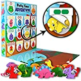 Lil Advents Potty Time Adventures Potty Training Set - Chart, Activity Board, Reward Badge, Stickers, and Block Toys for Toilet Training - Dinosaurs