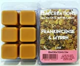 Frankincense & Myrrh - Scented All Natural Soy Wax Melts - 6 Cube Clamshell 3.2oz Highly Scented!