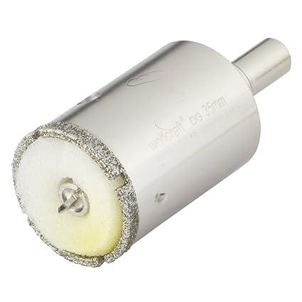 Wolfcraft 5926000 1 Diamant-Lochsäge Ceramic mit Schwamm, 10 mm Schaft Ø 35