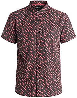 Mens Renogade Button Up Short-Sleeve Shirt