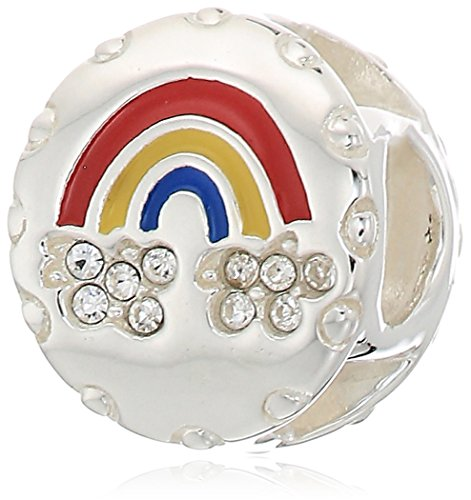 chamilia lucky rainbow - swarovski crystal with multi-color enamel charm ()