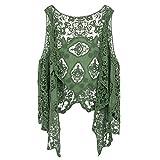 Jastie Open Stitch Cardigan Boho Hippie Butterfly Crochet Vest