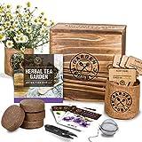 Indoor Herb Garden Seed Starter Kit - Organic Herbal Tea Growing Kits, Grow