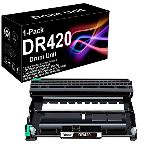 1 Pack Compatible High Yield DR420 Drum Unit for Use in Brother HL-2135W Printer (Black), Sold by BUADCK