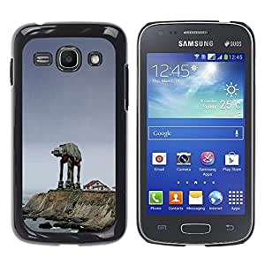 Starwars Mech - Metal de aluminio y de plástico duro Caja del teléfono - Negro - Samsung Galaxy Ace 3