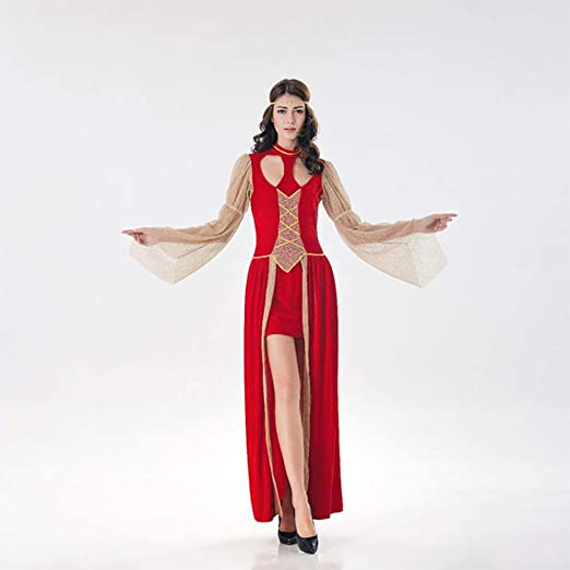 QIAO Disfraz de Diosa Griega de Halloween Vestido de Corte Retro ...
